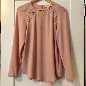 Michael Kors Women's Light Pink Polyester Blouse